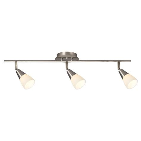 brushed nickel track lighting kits filament design carter 3 light brushed nickel track