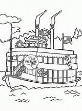 Coloring Boat Pleasure Transportation Printables Printable Wuppsy Tags sketch template