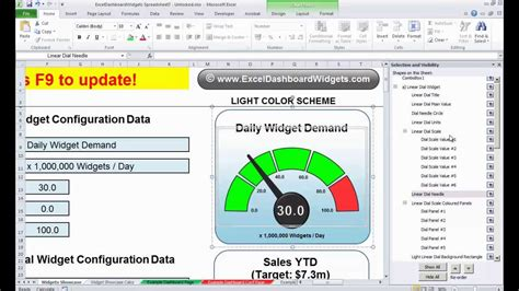 tutorial changing excel dashboard widget colors youtube