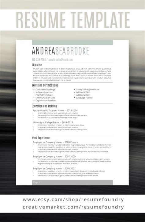 student resume template for word 1 3 page resume cover