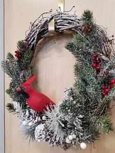 Cardinal, Bird, Winter, Wreath, U22c6, Behold, Jewelry, U0026, Designs
