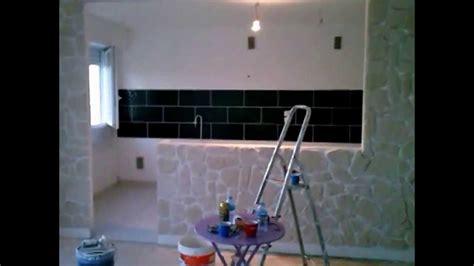 creation du bar de la cuisine salon pour appartement