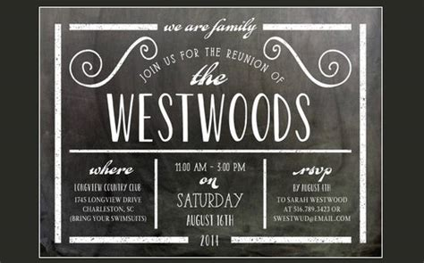 family reunion invitation templates psd vector eps