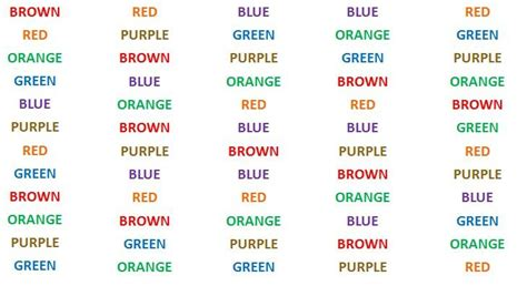 stroop color word test stroop test learning with ms logue