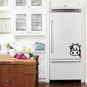funny cow kitchen fridge sticker vinyl cow decals for With best brand of paint for kitchen cabinets with black vinyl sticker
