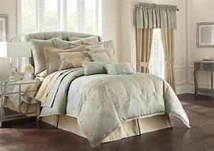 Aramis, Aqua, Gold, By, Waterford, Luxury, Bedding