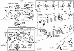 Toyota Tundra Nut  Exhaust Pipe Set Stud Bolt  Nut  Lock