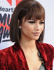 Celebrity Short Bob Hairstyle with Bangs
