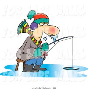 Ice Fishing Cartoon Clip Art