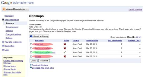 How Submit Blogger Rss Google Webmaster Tools