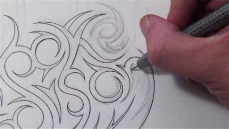 custom hidden tribal names tattoo design brooke