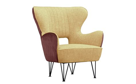 Modern Fabric Armchair by Juliet Modern Fabric Two Tone Shelter Armchair Sofamania