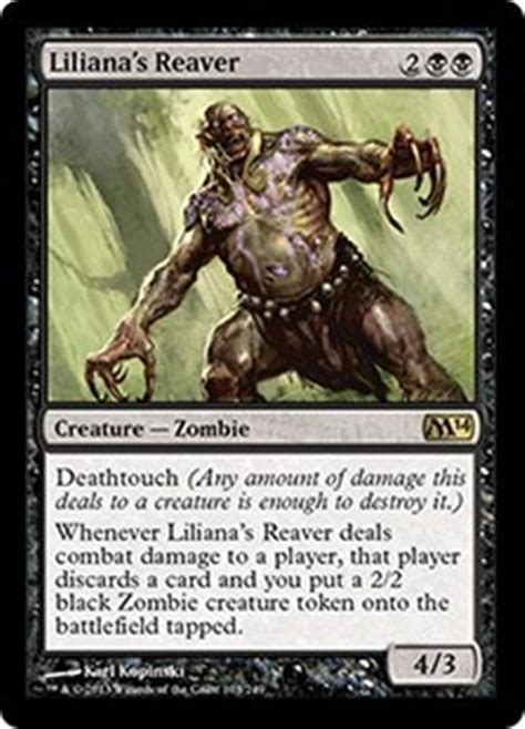 black deck mtg liliana s reaver m14 magic 2014 mtg black creature