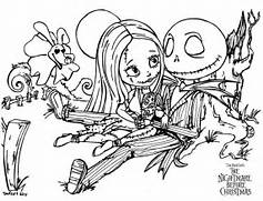 Jack And Sally Coloring Pages For Christmas Coloring Pages  Jack And Sally Coloring Pages