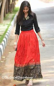 Remix | Red maxi skirt 5 ways - The Girl At First Avenue | Top Indian Fashion u0026 Lifestyle ...