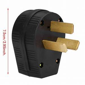 50 Amp 220 Volt 3 Prong Plug Replacement Fit Electrical Rv Welder 220v 2 95 U0026quot  Hot 892517615699