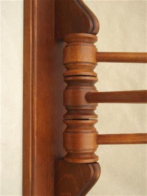 primitive pine towel hanger bars vintage kitchen wall