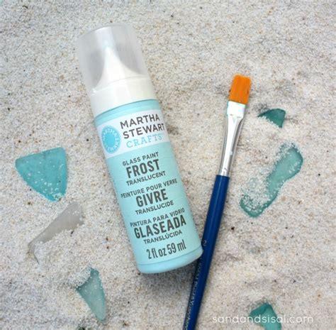 sea glass ornaments sand and sisal