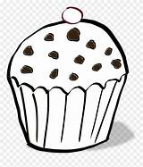 Muffin Colouring Coloring Clipart Chocolate Chips Chip Pinclipart Clipartkey sketch template