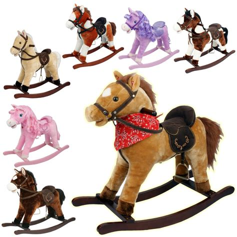 rocking horse kids toy play pony moving mouth sounds