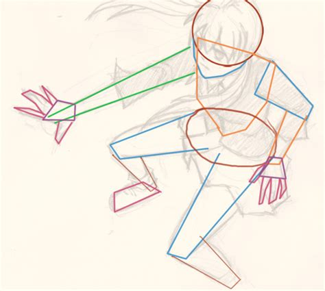 Draw Manga Action Pose Top Down Perspective ~ Drawing And