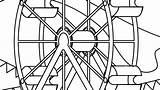 Wheel Coloring Ferris Funky Pages Printable Getcolorings Getdrawings sketch template