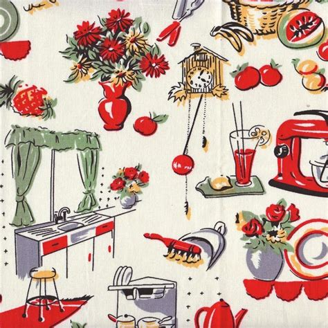 50 s fabric reminds me of wallpaper my granny used to