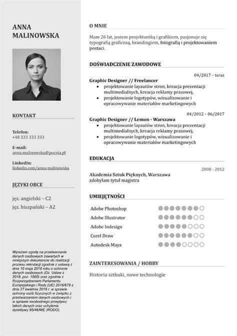 Cv Doc by Cv Wzory Kreator Do Formatu Pdf