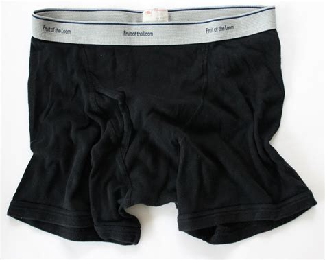 Fruit Of The Loom Men's 3 Pr Black/striped Underwear Boxer