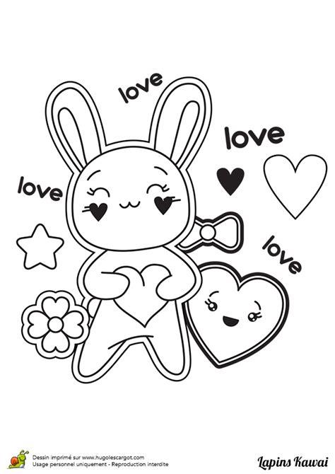 mere et fille cuisine coloriage lapin kawai amour sur hugolescargot com