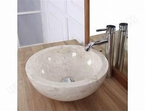 Bois Dessus Bois Dessous : vasque boule en pierre de marbre blanc bois dessus bois ~ Melissatoandfro.com Idées de Décoration