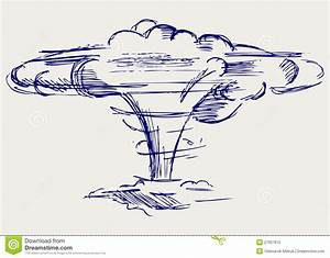 Atomic Explosion. Doodle Style Stock Vector - Image: 27927615