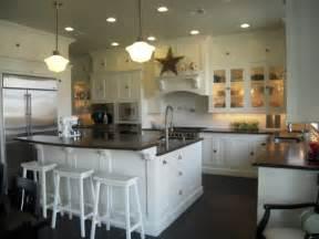 white kitchen island breakfast bar honed black granite countertops traditional kitchen hgtv
