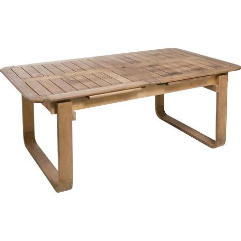 table de jardin naterial resort rectangulaire naturel