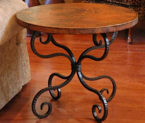 wrought iron table ls wrought iron end tables for the living room artisan