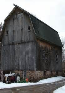 Old Barn with Tractor and Farm