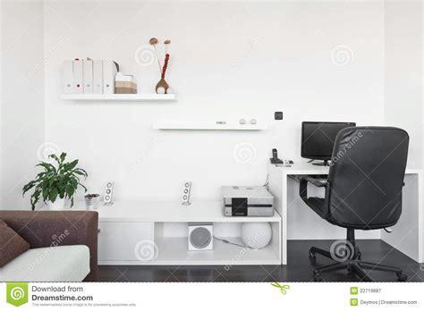 computer desk in living room modern living room with computer desk stock image image