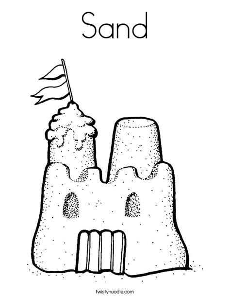 Coloring Sand by Sand Coloring Page Twisty Noodle