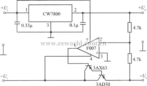 Tracing Integrated Regulated Power Supply Circuit