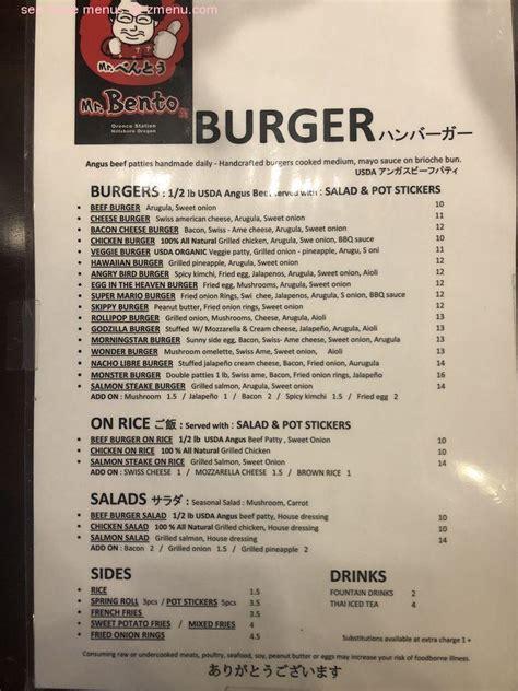 Chipotle next kitchen's experimental tasting menu. Online Menu of Mr. Bento Burger Restaurant, Hillsboro, Oregon, 97124 - Zmenu