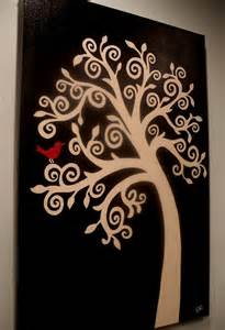 Black and Red Tree Painting