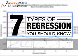7 Types Of Regression Techniques You Should Know