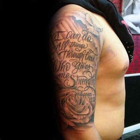 strength tattoos  men masculine word design ideas