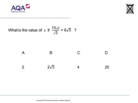 solving equations with surds gcse maths question of the
