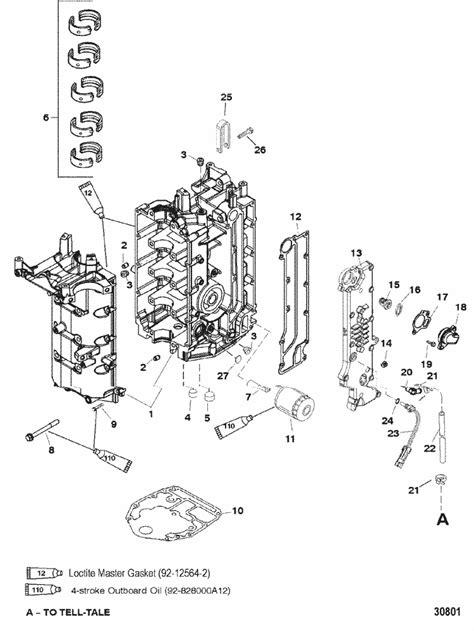 mercury marine  hp  stroke  cylinder cylinder