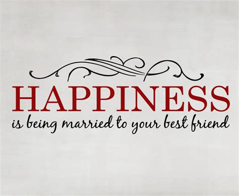 vinyl wall decal happiness   married