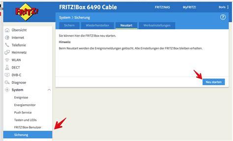 fritzbox im browser anleitung fritzbox per browser neu starten oder zur 252 cksetzen tutonaut