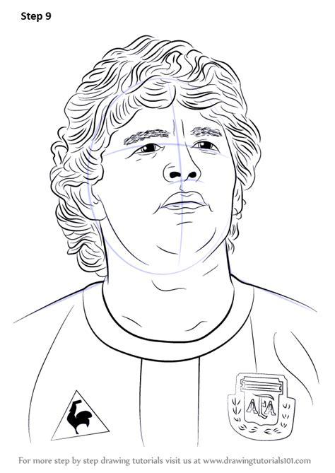 learn   draw diego maradona footballers step