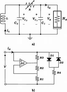 Schematic Diagrams Of A  The Chua Circuit  And B  The