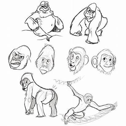 Drawing Ape Apes Getdrawings